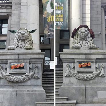 Yoda/Leia Art Gallery Lions 2015