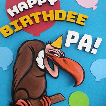 Giant 3D Birthday Card