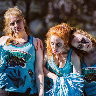 Grizzlies Cheerleaders Zombies